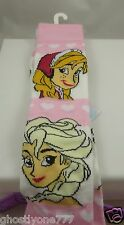 Anna Elsa Frozen socks knee highs fits 9-11 shoe size Disney pink and white