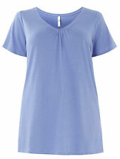 New Ladies EVANS Pure Cotton Lilac V Neck T Shirt size 14