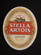 STELLA ARTOIS LEUVEN PREMIUM LAGER BEER BELGIUM'S ORIGINAL BEER COASTER
