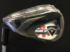 New Callaway RAZR X Black A Wedge Iron Left Handed Womens Flex Graphite
