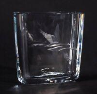 ENGRAVED STROMBERGSHTTAN ART GLASS VASE C.1950