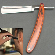 Steel Straight Edge  Barber Blades Manual Shave Razaor Folding Shaving Knife