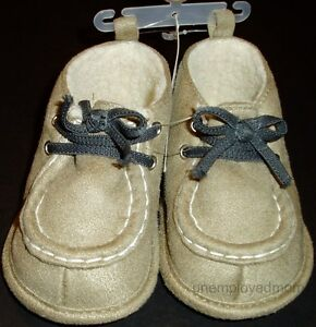 Shoes Boots Crib Baby Boys Soft Hard Sole Footwear Shower Gifts Light Weight