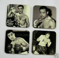 Rocky Marciano Boxing Legend Drinks Coaster Set