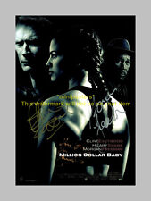 MILLION DOLLAR BABY MOVIE CAST PP SIGNED POSTER 12X8