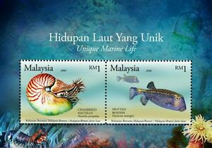 *FREE SHIP Malaysia Brunei Joint Issue Unique Marine Life 2006 2007 Fish (ms MNH