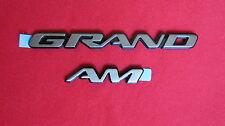 "New OEM Gold Pontiac ""GRAND AM"" Nameplate Emblem Badge 22602348"
