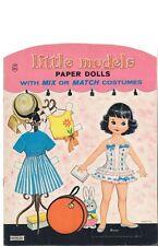 Vintage Uncut Ittle Models Paper Dolls Cute Hd~Laser Reproduction~Lo Pr~Hiqual