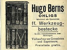 Hugo Berns Ohligs Tool-Flatware Historical Advertising 1912