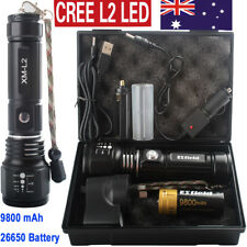 20000LM Tactical&Military Emergent Survival USB 9800mAh 26650 Flashlight Torch