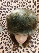 Topshop Faux Fur Russian Style Hat Beige Brown Grey...
