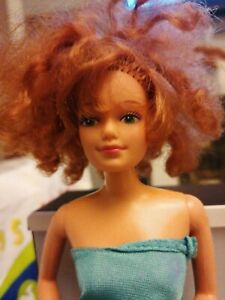 VINTAGE RARE 1966 BARBIE GINGER HAIR GREEN EYES   MADE IN PHILLIPINES 11 INCH