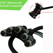 "CNC Motorcycle 7/8"" Handlebar Switch Controller Self-return+Manual-return Button"