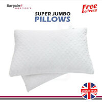 Luxury Deluxe Bounce Back Pillows Quilted Extra Filled Super Jumbo Hotel Quality