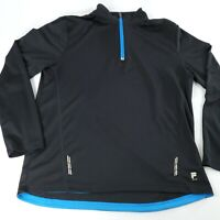 FILA Mens Sport Performance Zip Pullover Athletic Top Size LARGE Long Sleeve