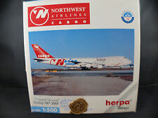 Herpa n°512398 ◊ Boeing 747-200F ◊ Nothwest Airlines Cargo ◊1/500 en boîte/boxed