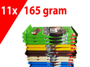 FREE SHIPPING 11x 165g M&M's milk chocolate (hazelnut, peanut, almond, crispy)