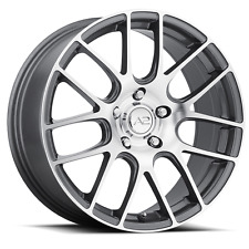 "18"" A2 Mesh Gunmetal Wheels Rims Tires Package 5x4.5 Honda Civic Lancer Mazda 3"