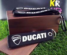 BUCATI KEYCHAIN key ring key holder d ring logo FABRIC big bike motorcycle b&w