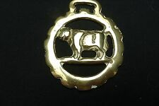 Vintage  ENGLISH Horse Brass Bottle Opener ..BULL