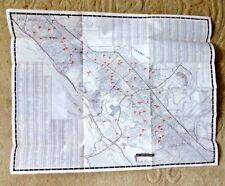 VINTAGE MAP SAN MATEO BURLINGAME FOSTER CITY MILLBRAE FLAGGED SCHOOLS 1968