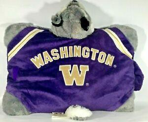 Washington Huskies Pillow Pet Dog NCAA Pac-12 College Football Team Logo Mascot