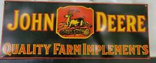 Vintage John Deere Quality farm Implements Sign