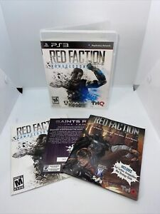 NICE DISC! Red Faction: Armageddon PlayStation 3 PS3 Complete Manual Cleaned!