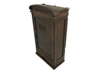 Large Kitchen Medicine Hand Carved Wood Apothecary Medicine Bathroom Cabinet