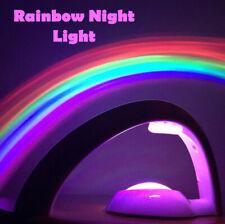 Kids Rainbow Color Night Light LED Rainbow Projector Lamp Gift Bedroom Decor