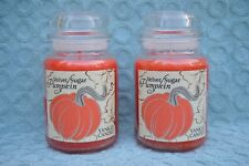 Yankee Candle Velvet Sugar Pumpkin Large Jar Candle 22oz New Orange x 2