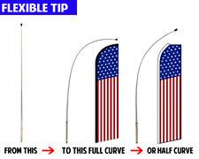 16ft Swooper Pole Kit Feather Flag Pole Flutter Flag Pole Convertible Pole Kit