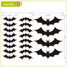20x Halloween Decorations Window Wall Bats Stickers Party Props Scary Decor 2019