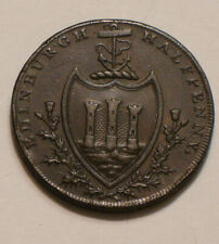 1790 EDINBURGH Half Penny CONDER TOKEN Full Detail ANCHOR & CASTLE