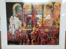 "LeRoy Neiman Hand Signed ""Metropolitan Opera"" Art Lithograph LINCOLN CENTER NY"