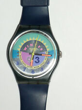 Swatch 1993 Winter collection w/original blue plastic band