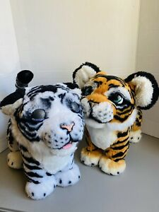 FurReal Roarin Ivory the Playful White Tiger& Roarin Tyler Interactive Plush Toy