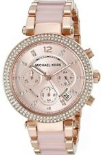 MICHAEL KORS PARKER CHRONOGRAPH WOMENS WATCH MK5896 ROSE DIAL RRP £259.00