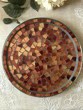Home Interiors Copper Spice Mosaic Candle Tray