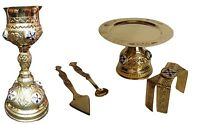 ChaliceSet - Orthodox church Shiny brass Chalice Set Complete