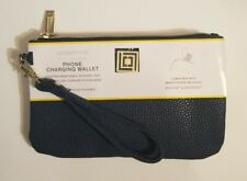 *NEW* Liz Claiborne Phone Charging Wrist Wallet -BLUE- for Android-iPhone.