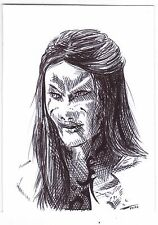 ACEO Sketch Card Wraith Queen from Stargate Atlantis TV Series