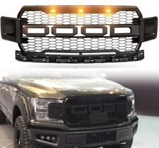 For 18-20 Ford F150 Raptor Style Conversion Front Hood Grille W/ LED Grill BLACK