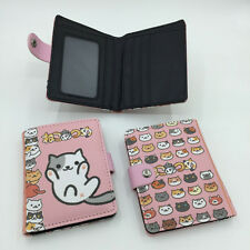Game Neko Atsume High Quality Synthetic Leather Exquisite Wallet/Button Purse