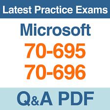 Microsoft Practice Tests 70-695 & 70-696 Certification Exams Q&A PDF