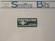 ROVER MINI COOPER SPORT ALARM PROTECTED WINDOW STICKER NICE QUALITY AS PER OE