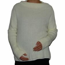 Warm Winter Over size Navy Blue Ivory Long Dolman Sleeves Loose Jumper 12 14 16
