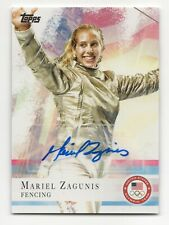 2012 Topps USA Olympic Team Autograph #32 Mariel Zagunis Fencing