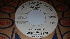 RAY CHARLES Makin' Whoopee (PLAYS/SINGS) WLP PROMO 45 ABC 45-10609 (1964)