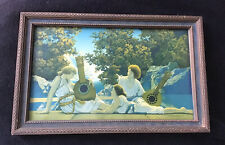 Maxfield Parrish Lute Players Original Print Original Art Deco Frame House OfArt